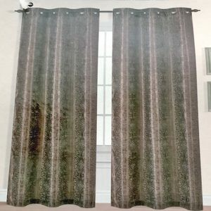 🆕 Grey Bronze Suzanni Grommet Panel Curtains  NWT